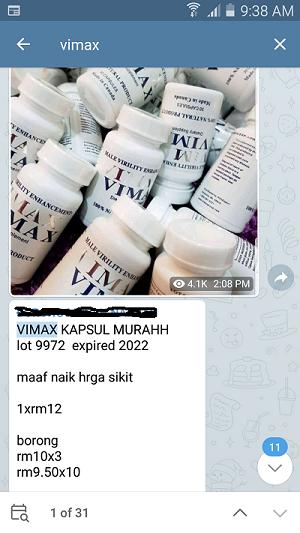 vimax 9972 fake tiruan